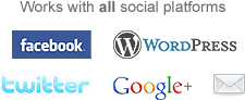 Works with all social platforms